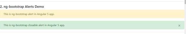 """Using """"ng-bootstrap"""" Alerts"""