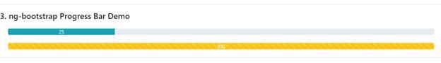"""Using """"ng-bootstrap"""" Progress Bar"""