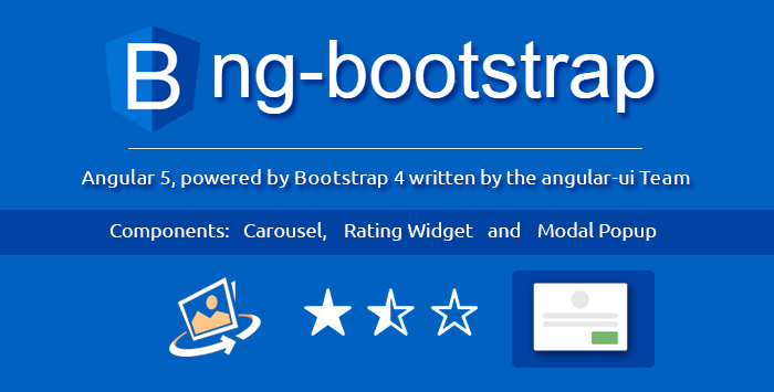 """ng-bootstrap"" directive components to make imposing Angular 5 App"