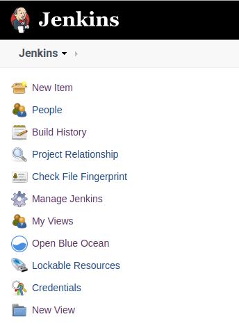 The Jenkins user interface